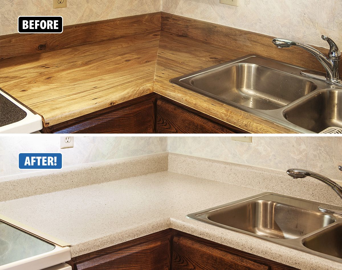 Chipped Worn Laminate Countertops We Can Fix That Rather Than Tearing Out Your Dated And Damaged Countertop Refinish Countertops Countertops Diy Countertops