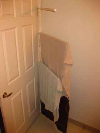 PVC Door Hinge Towel Rack | Bedroom hacks, Small bathroom ...