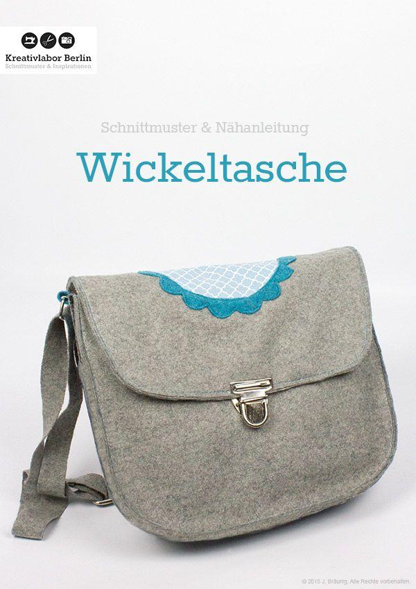 Wickeltasche | Schnittmuster Taschen | Pinterest | Schnittmuster ...