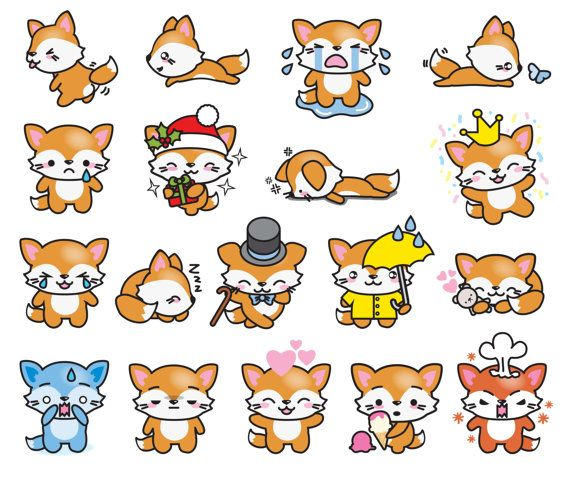 Premium Vector Clipart Kawaii Floss The Fox Cute Fox Clipart