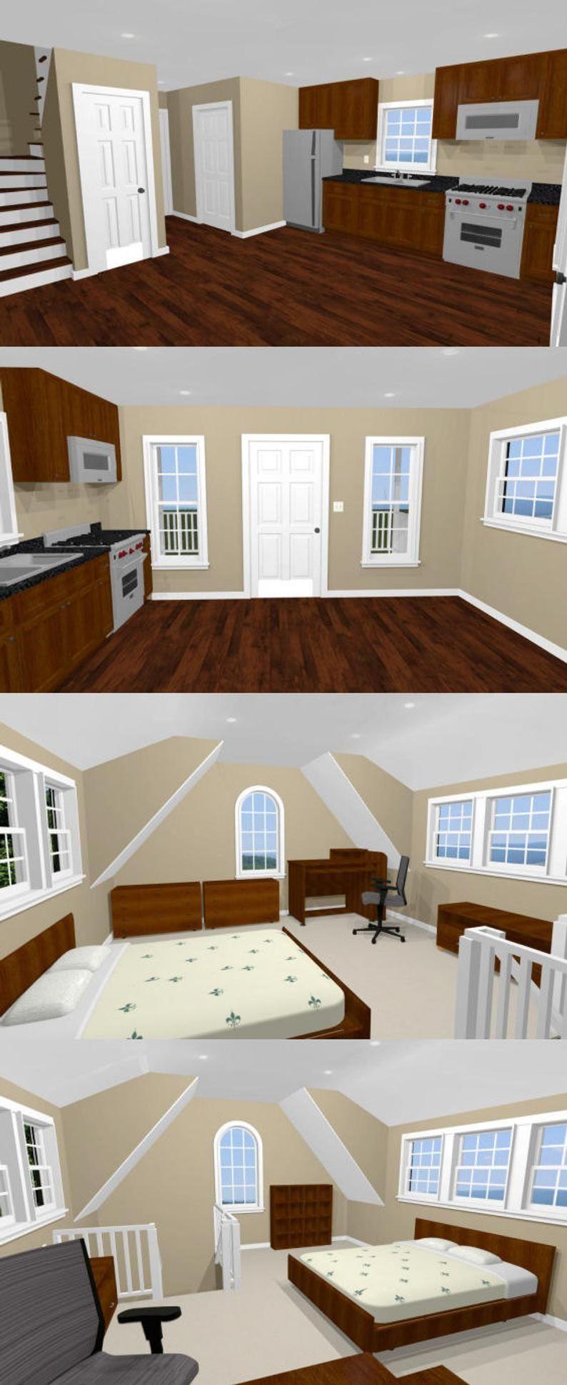 16x20 House 1Bedroom 1Bath 574 sq ft PDF Floor