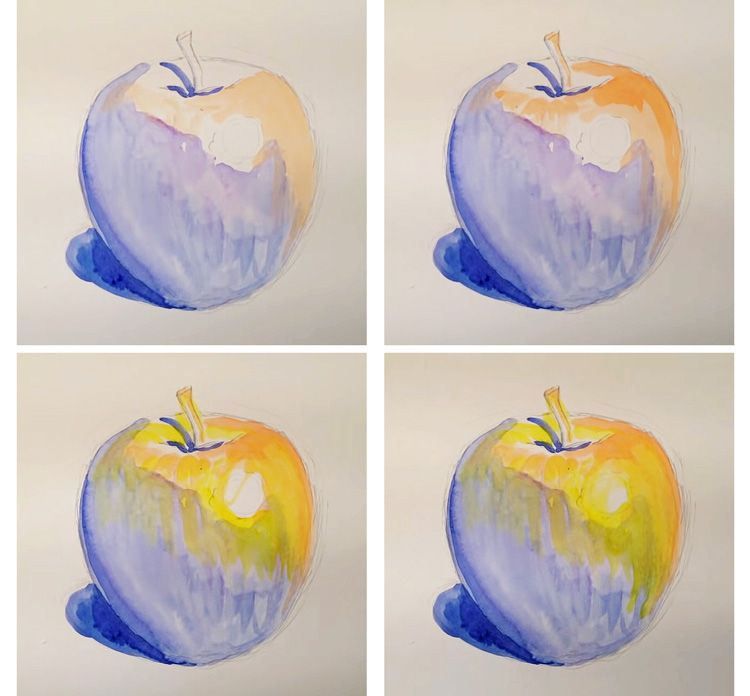 The Underpainting How To Create A More Expressive Watercolor Painting Underpainting Watercolor Paintings Apple Painting