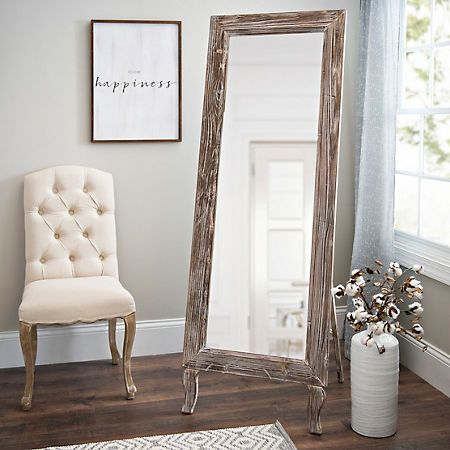 Distressed Aspen Cheval Full Length Floor Mirror Floor Mirror Farmhouse Floor Mirrors Full Length Floor Mirror