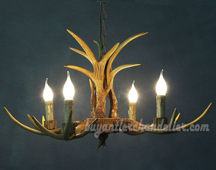4 cast deer antler chandelier four candle style ceiling lights 4 cast deer antler chandelier four candle style ceiling lights pendant rustic lighting fixtures 27 aloadofball Images