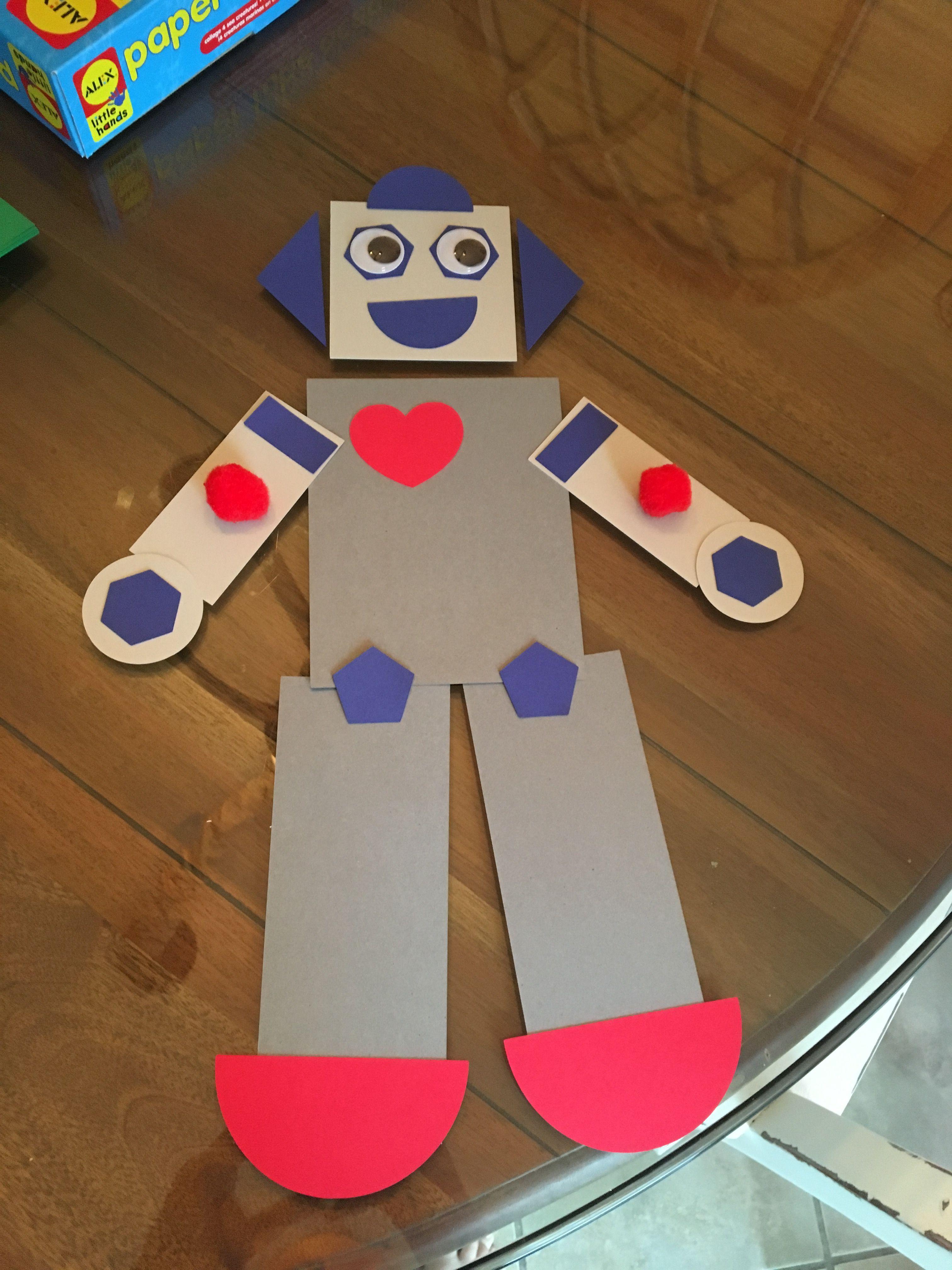 Robot Shape Craft For Preschooler