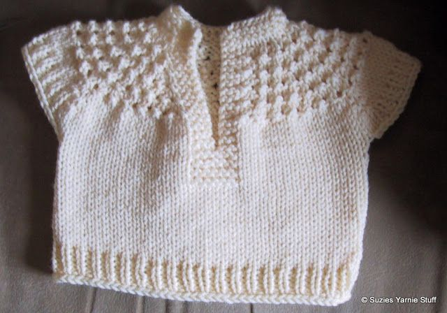 Suzies Stuff: BABY GIRL'S SHORT SLEEVED PULLOVER