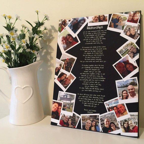 Regalo de aniversario personalizado para novia foto collage novio impresión amistad presenta esposa cita día de san valentín