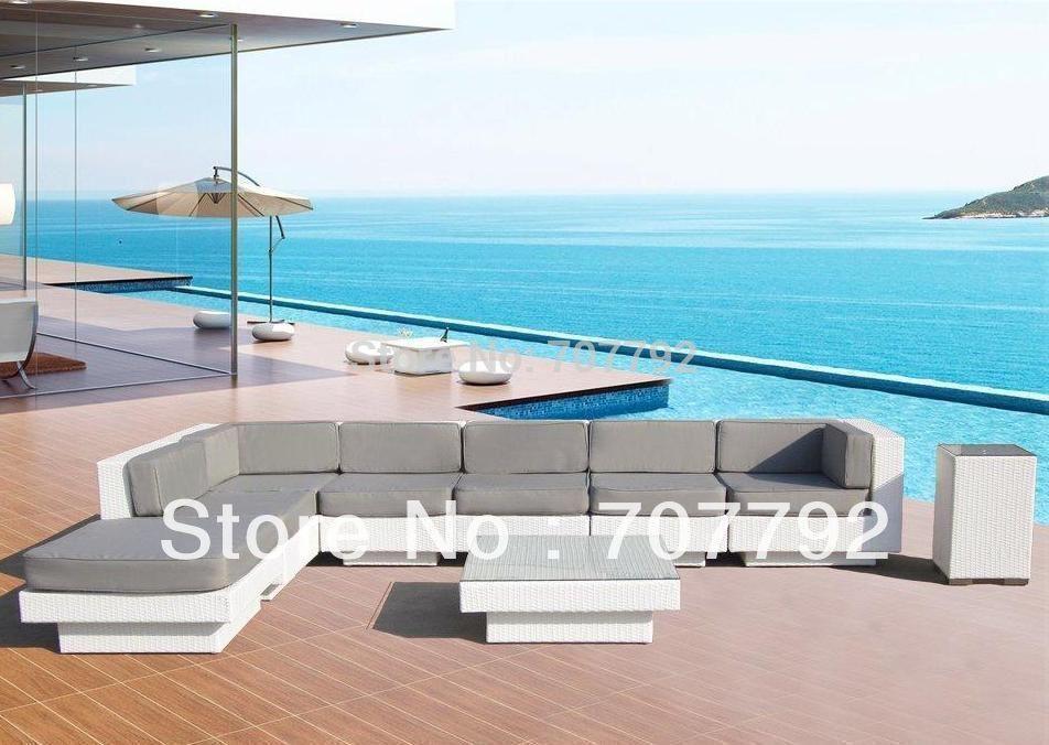 Newport Beach Luxury Euro Modern Sectional Sofa Wicker Patio Amazing Euro Modern Furniture
