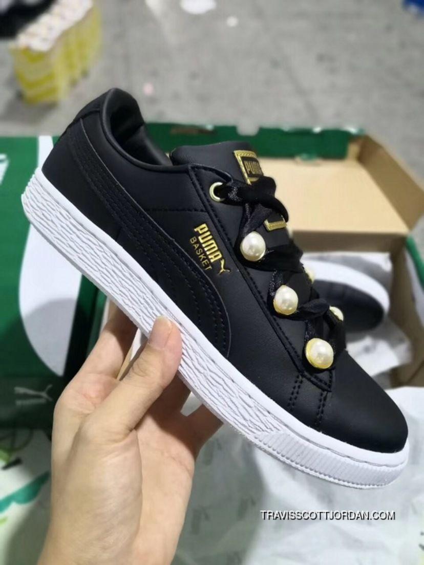 8be405c1b48 Puma Basket Bling 366732-04 Women s Sneakers Puma Black-Metallic Gold New  Style