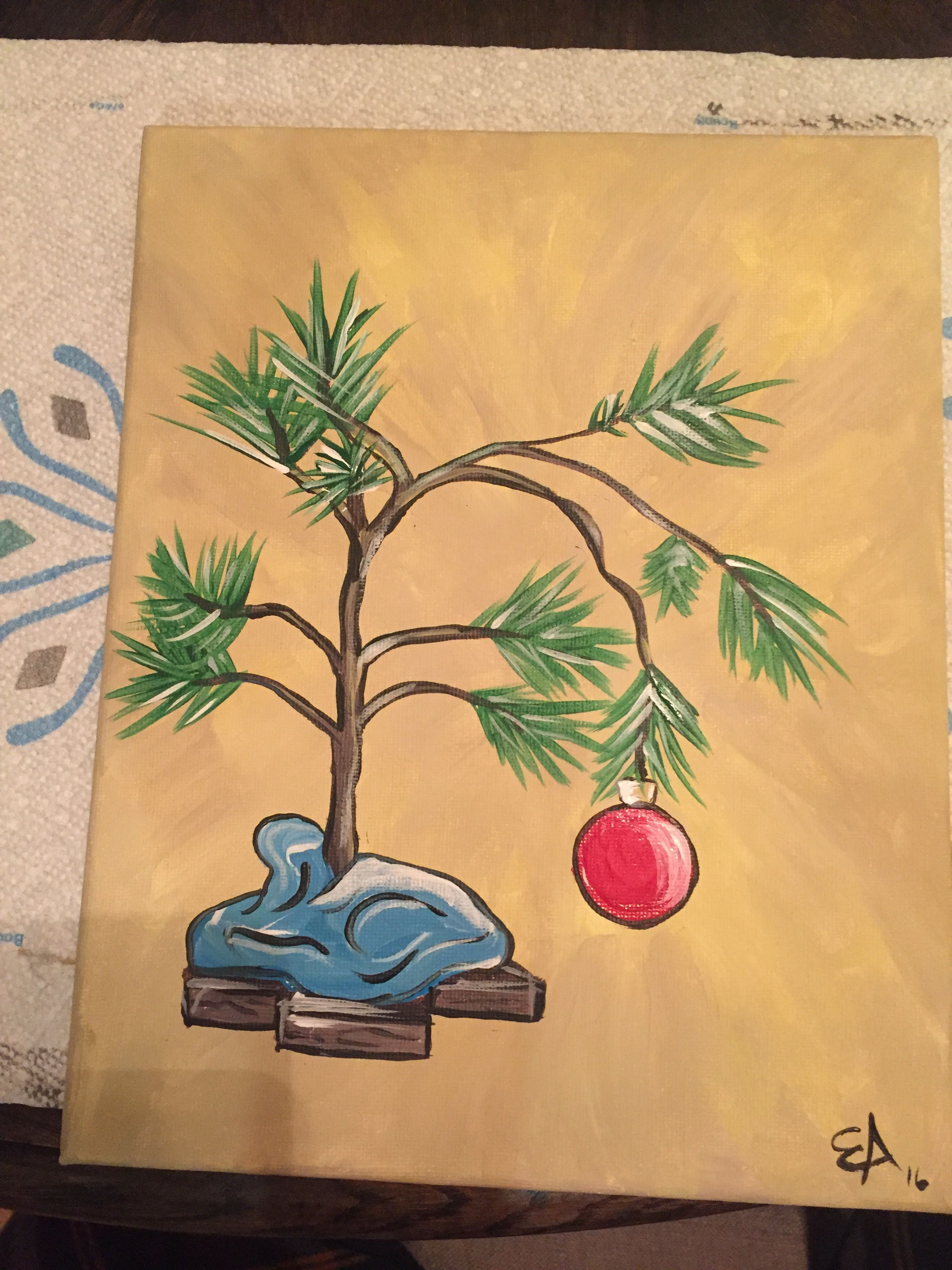 Charlie Brown Tree Painting