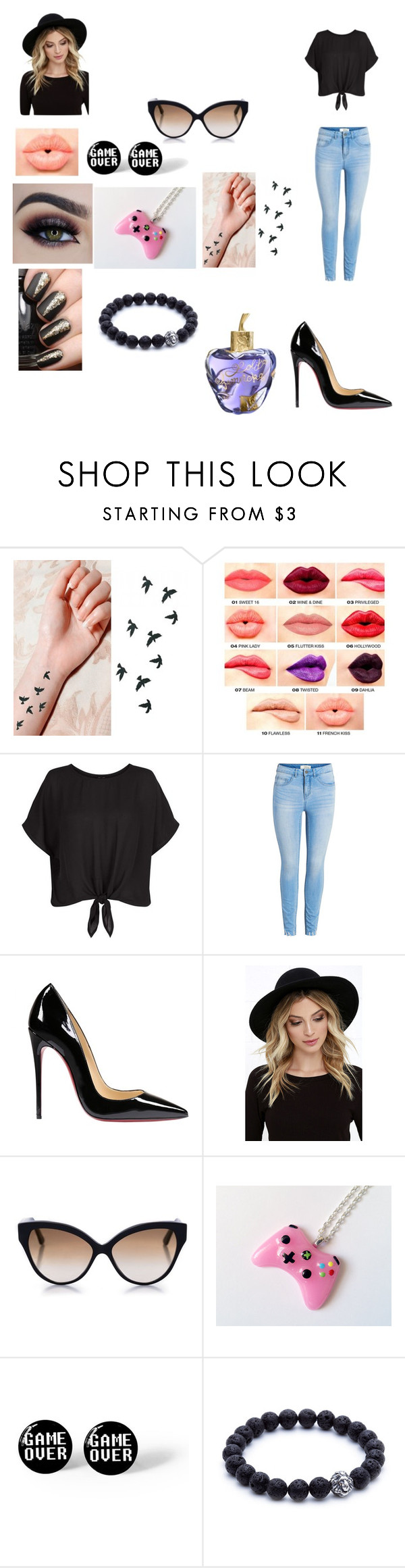 """""""Emma's outfit for day in Sao Paulo, Brazil"""" by onedirectionforever1297 on Polyvore featuring NYX, Christian Louboutin, RHYTHM, Cutler and Gross and Lolita Lempicka"""