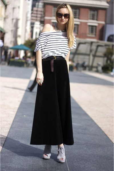 purpngreen.com black long skirt (01) #skirts | Dresses & Skirts ...