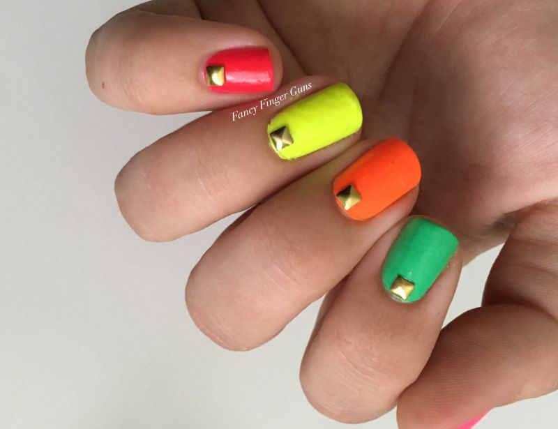 June Nail Art Challenge #1: Squares! | Art challenge, Manicure and ...