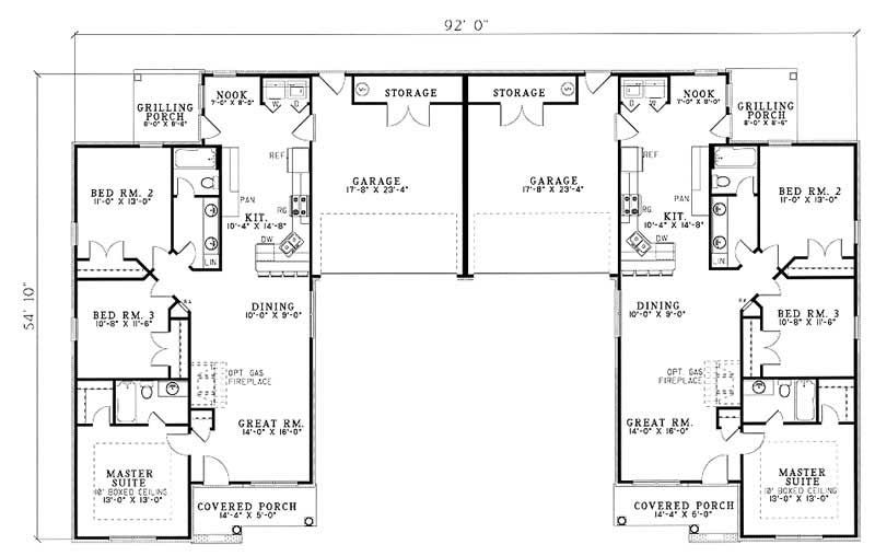 Main Floor Plan | Duplex ideas | Pinterest | Small breakfast nooks ...