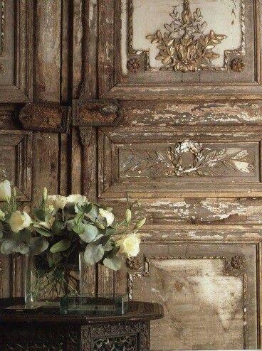 Rustic French doors.