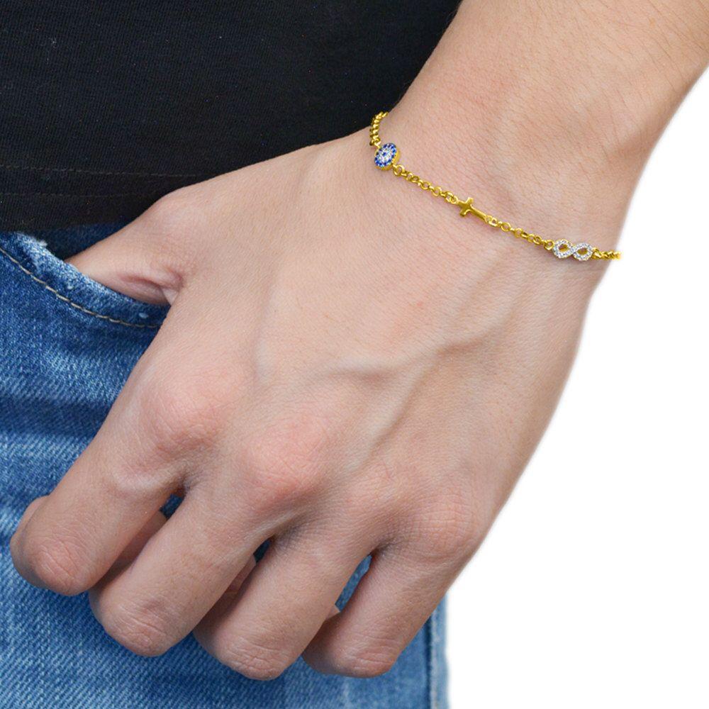 Evil Eye Bracelet Sterling Silver 925,Rose Gold Bracelet,Yellow Gold Bracelet,Infinity Bracelet,Tiny Evil Eye Cross Bracelet,Birthday Gift by AmorAmorSilver on Etsy https://www.etsy.com/listing/263687473/evil-eye-bracelet-sterling-silver