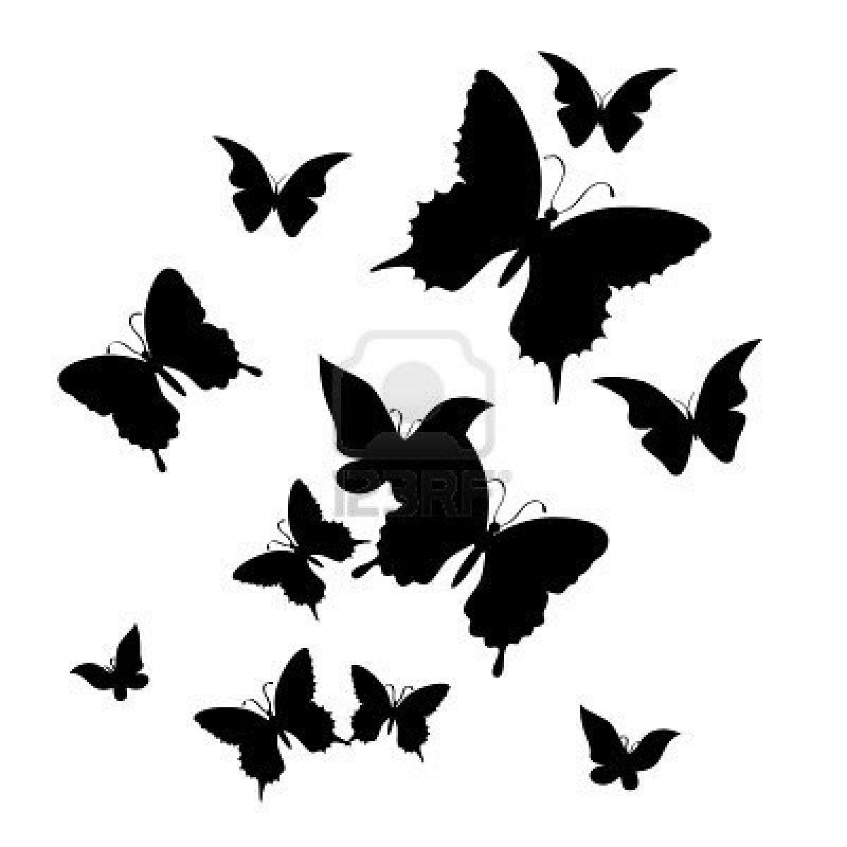 Silhouette of butterfly on a white background patron tattoo vorlagen libellen vorlagen - Silhouette papillon imprimer ...