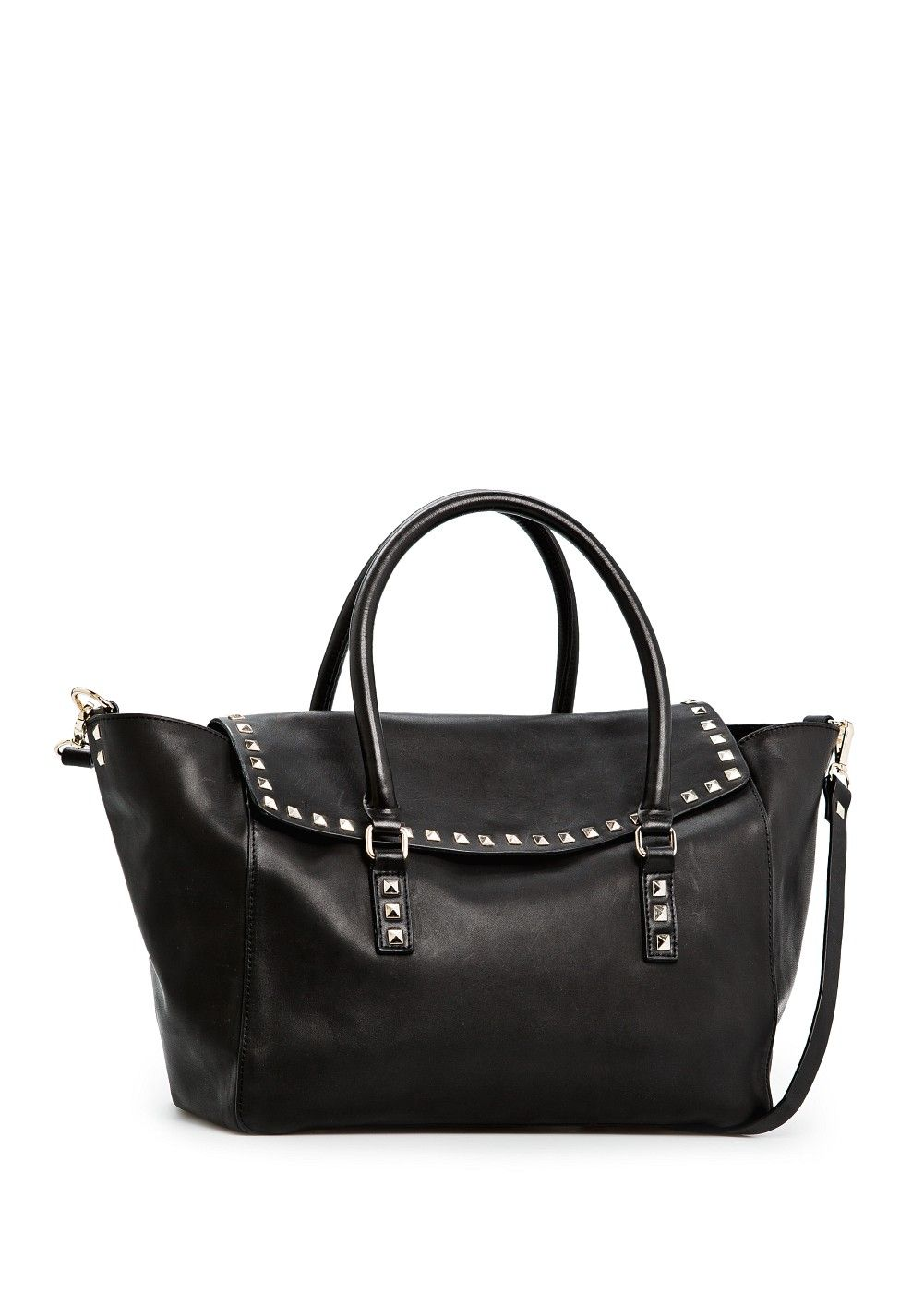 MANGO - BAGS - Studded leather shopper bag, $229