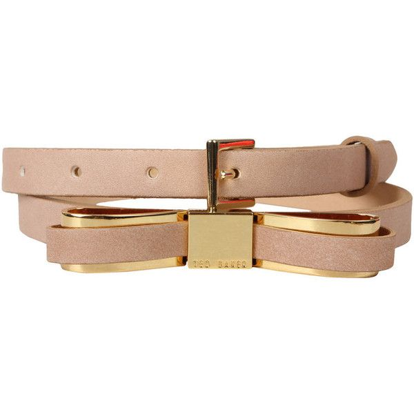 Ted Baker Womens Multi Colour Metal Bow Skinny Belt ($59) ❤ liked on Polyvore featuring accessories, belts, thin bow belt, metal bow belt, thin belt, colorful belts и ted baker