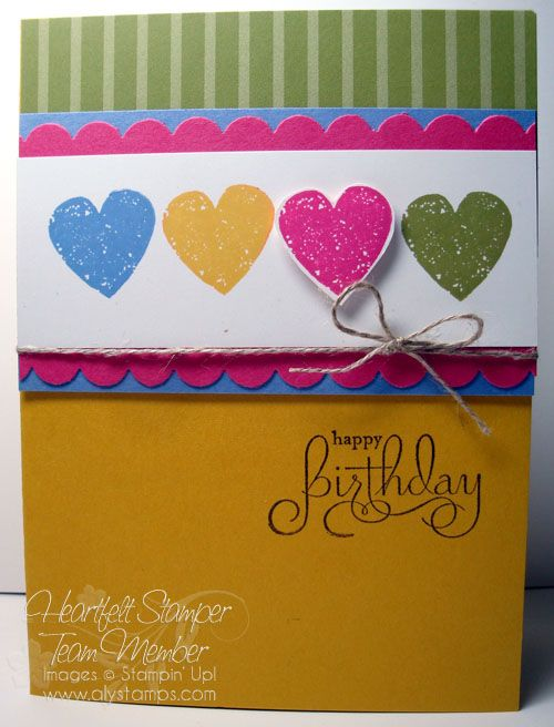 This birthday card could be transformed into a card for many – Homemade Card Ideas for Birthdays