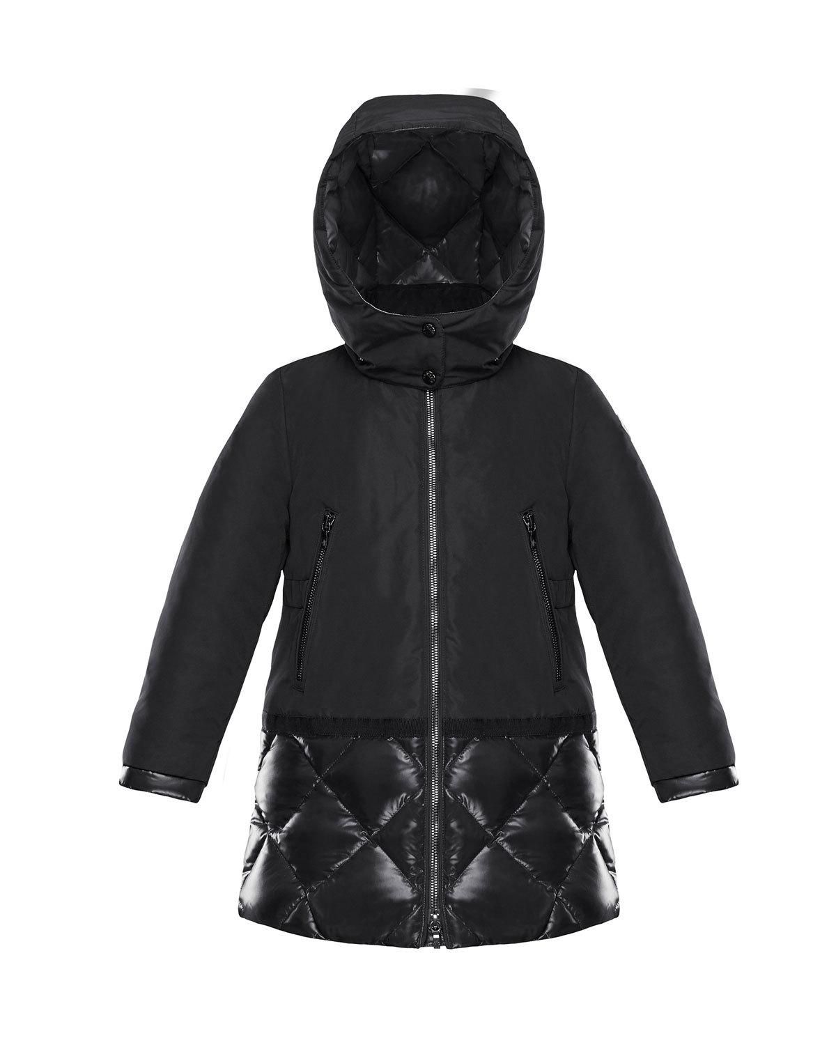 b415b57e8 Moncler Sibylle Quilted-Hem Hooded Jacket