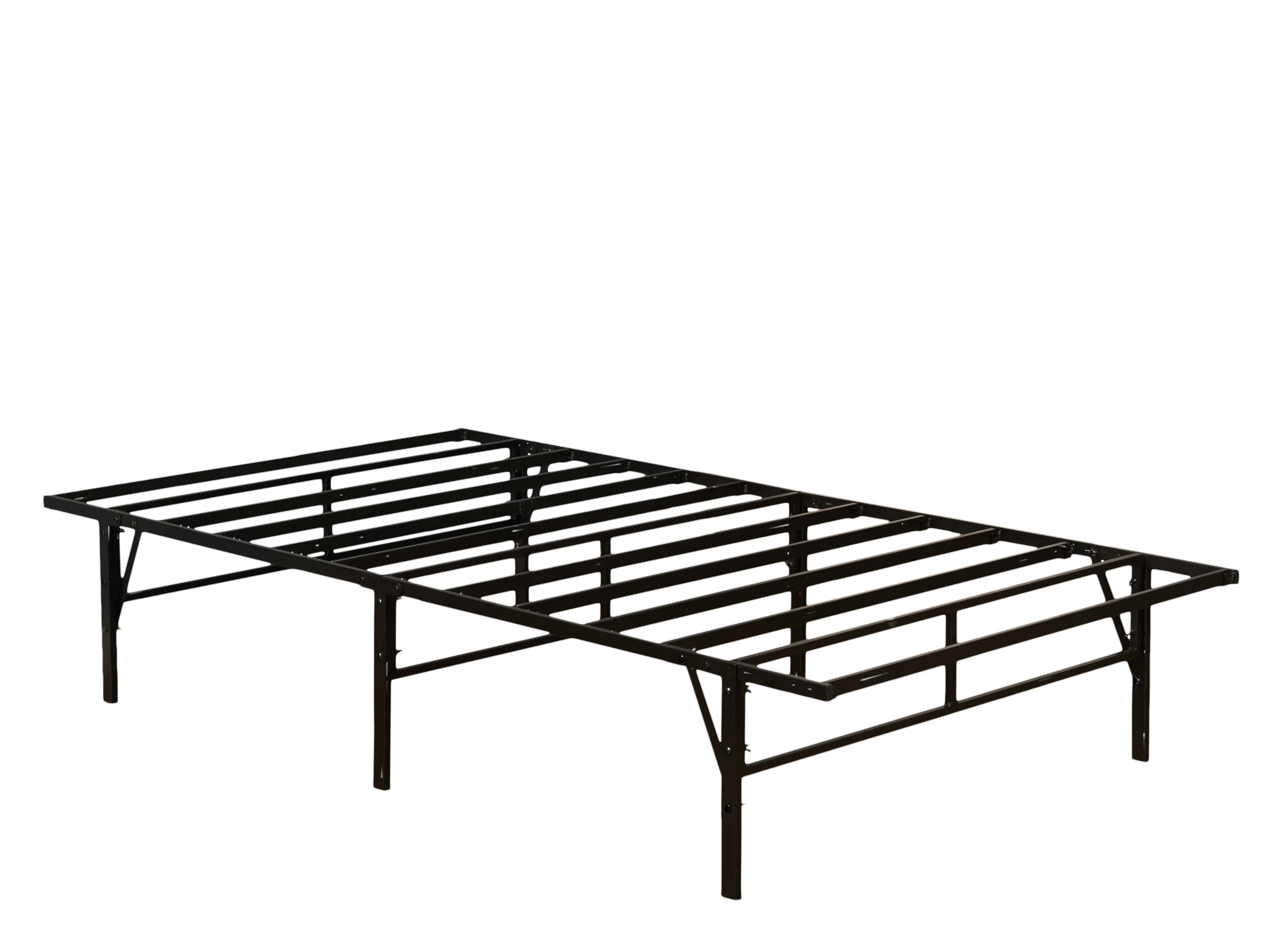 Hanna Platform Bed Frame Black Metal Twin Adjustable