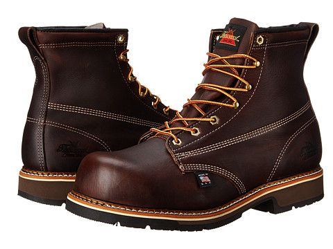 Thorogood Emperor Safety Toe 6 Inch Brown - Zappos.com Free Shipping BOTH Ways