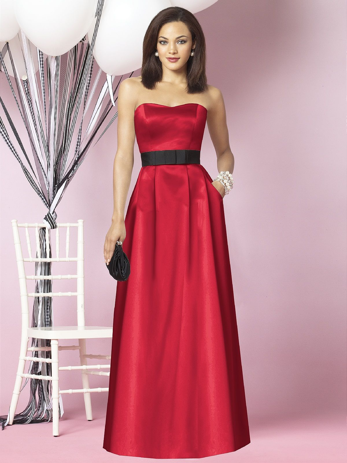 Pics for red bridesmaid dresses with black sash biancas pics for red bridesmaid dresses with black sash ombrellifo Choice Image