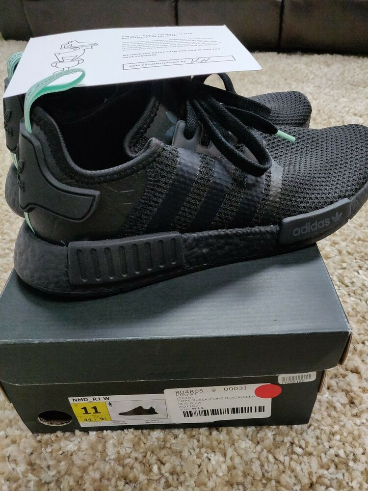 4bbb8d547  Adidas  NMD R1 AQ1102 Black  Mint Athletic Sports Sneakers size 11   fashion  clothing  shoes  accessories  mensshoes  athleticshoes (ebay link)