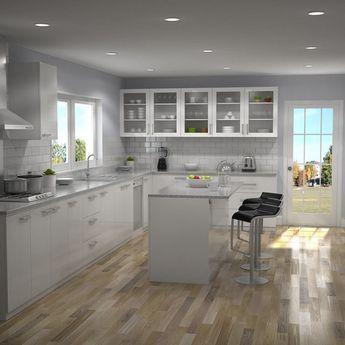 Kitchen Interior 01 | 3D model #greykitcheninterior