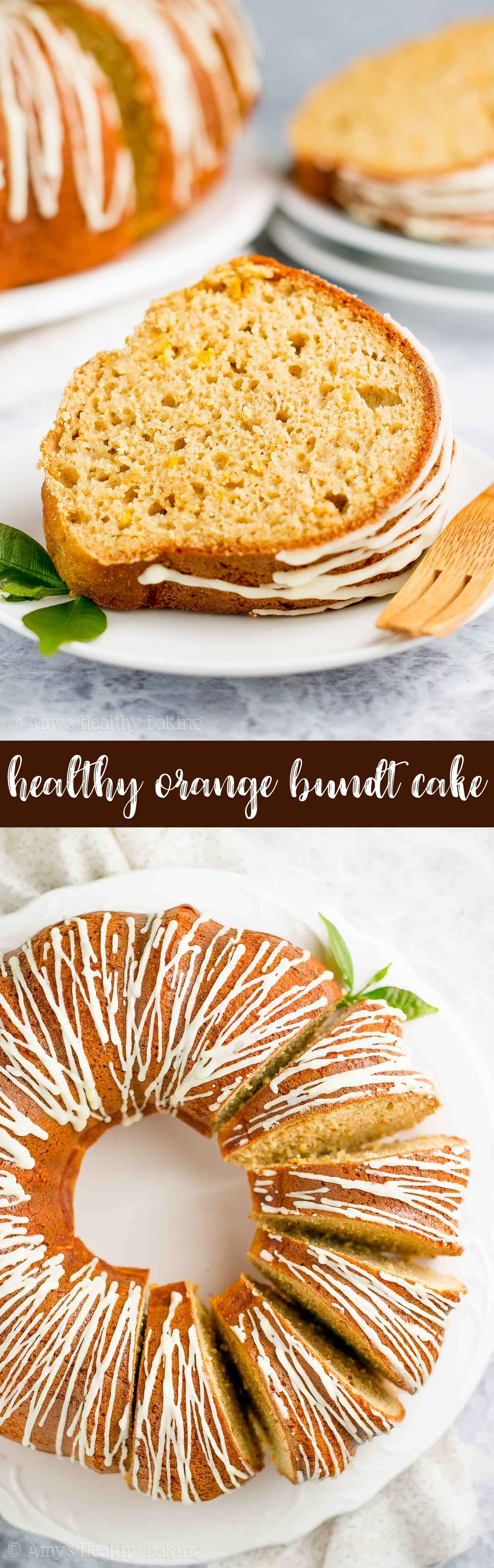Healthy Orange Bundt Cake Recipe only 123 calories & made from scratch It s moist tender & full of flavor I wasn t a fan of orange flavored cakes