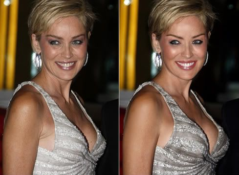 55 Shocking Images Of Celebrities Before And After Photoshop Sharon Stone Short Hair Celebrities Before And After Hair Care Advice