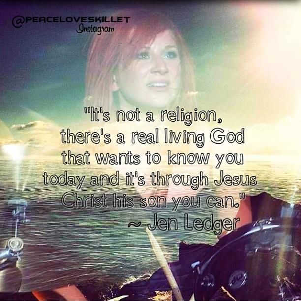 This is an awesome quote from Skillet's Jen Ledger  | Wise
