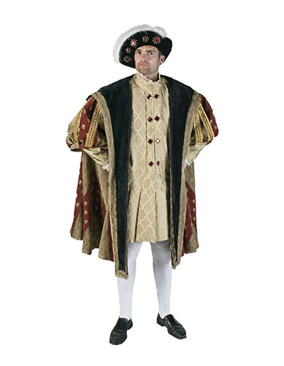 Deluxe Men's 16th Century King Henry High-Quality Theater Costume Set by Tabi's Characters