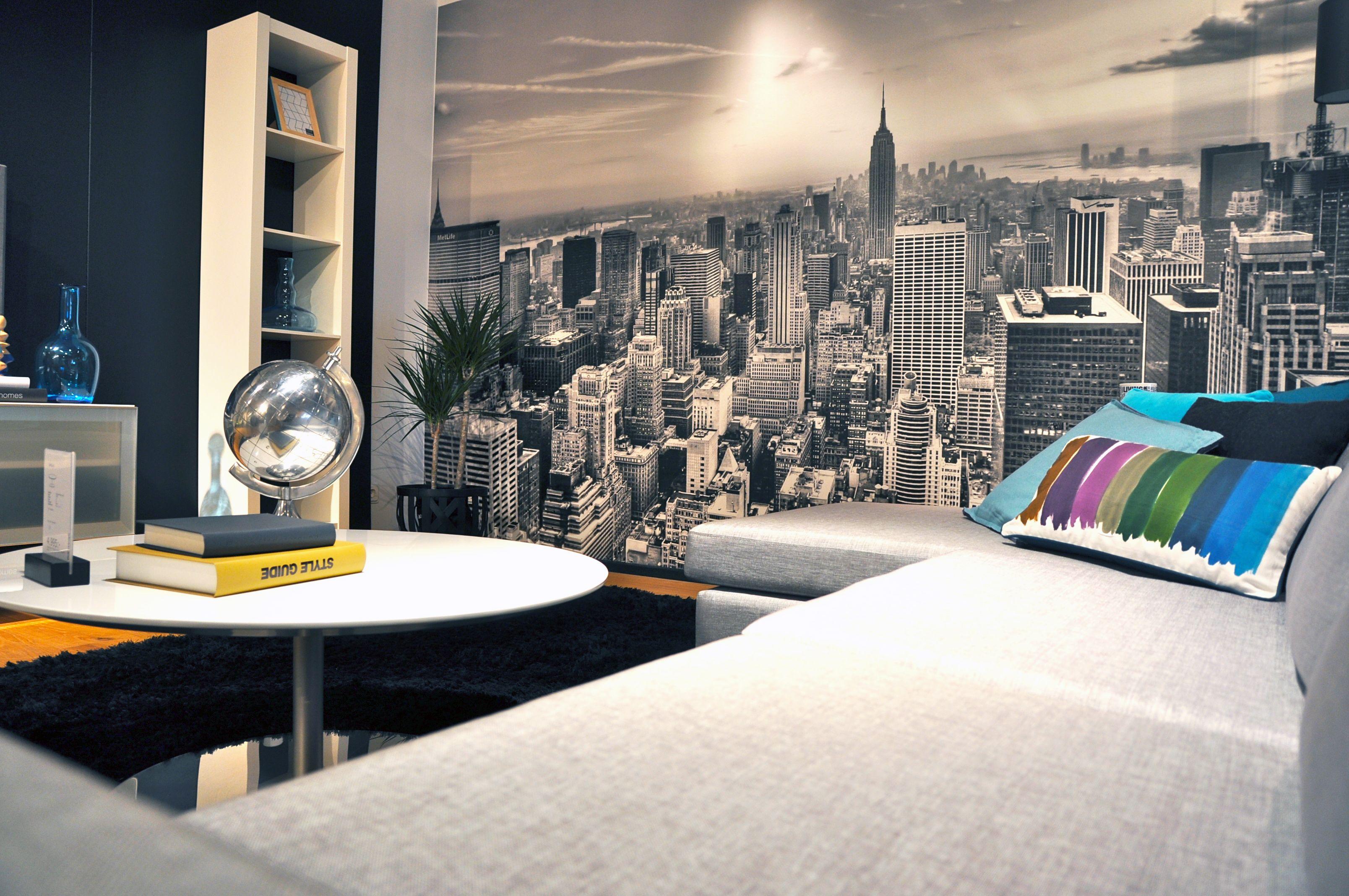 New York City 2 B W Wall Mural Wallpaper Photowall Home Decor Fototapet Valokuvatapetit Nyc Interior Design Decor Home Decor Bedroom