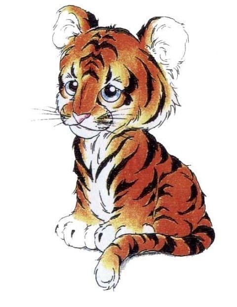 Pin By Birgit Keys On Clip Art Animals Babies Cubs Tattoo Tiger