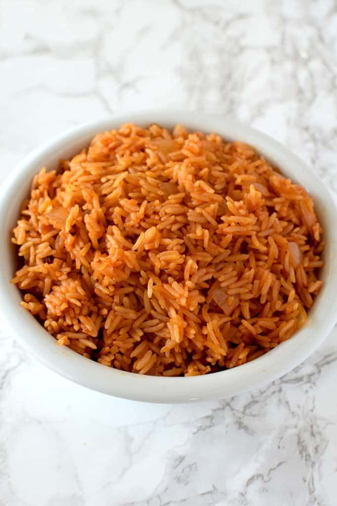 Israeli Red Rice Israeli red rice makes for an easy side! This recipe calls for only a few ingredients in addition to white rice.