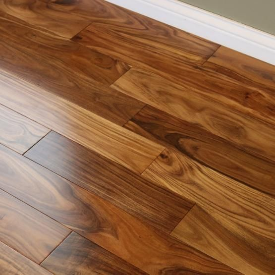 Acacia Natural 9 16 X 4 3 4 Smooth Small Leaf Engineered Hardwood Flooring Wood Floors Wide Plank Engineered Hardwood Flooring Flooring