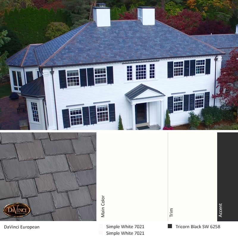 Best Exterior Color Scheme European Davinci Slate Roof 400 x 300