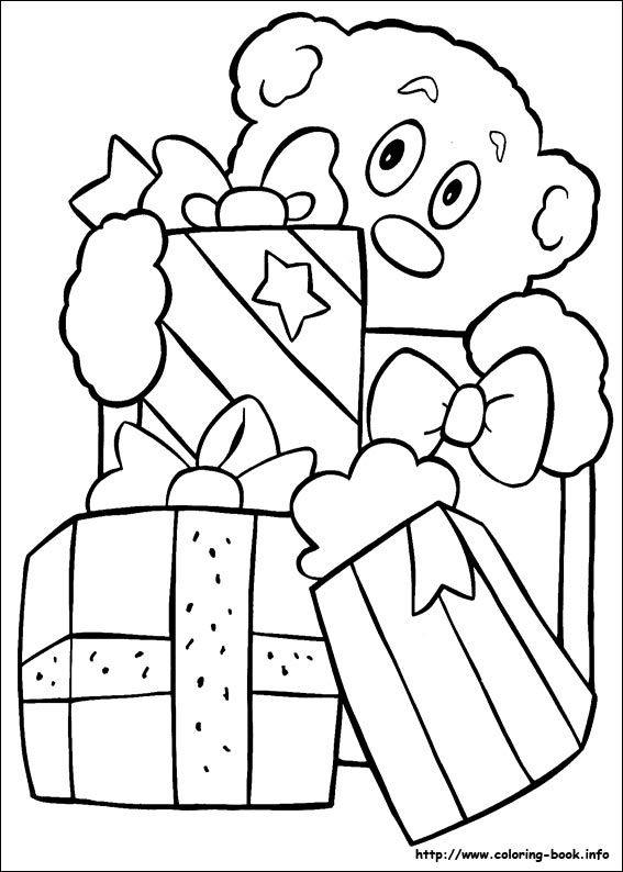 Christmas coloring picture | crafts | Pinterest | Natal, Colorear y ...
