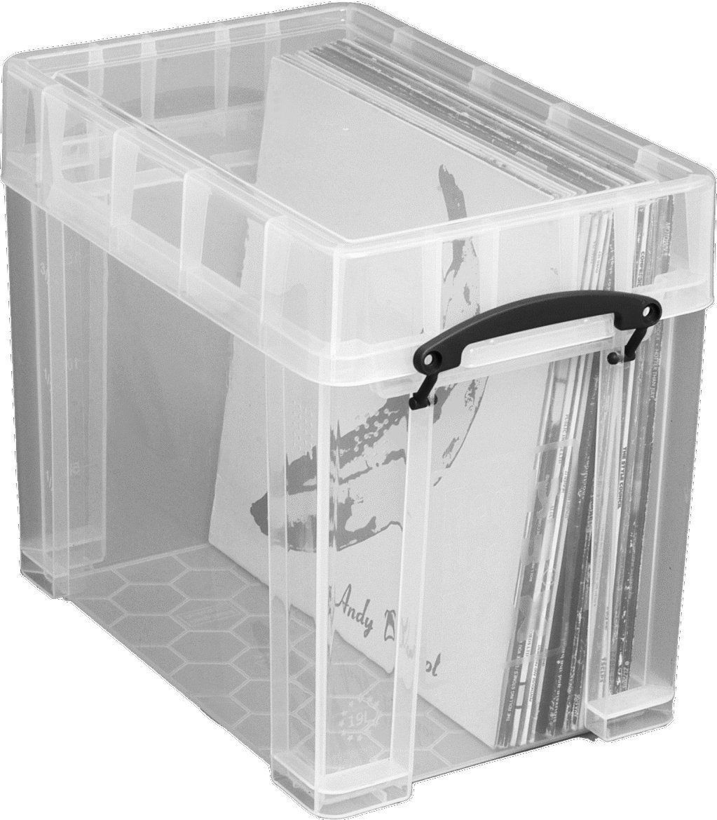 Really Useful Plastic Storage Box 19xl Litre Color Clear Amazon Co Uk Kitchen Amp Home Plastic Box Storage Plastic Storage Vinyl Storage