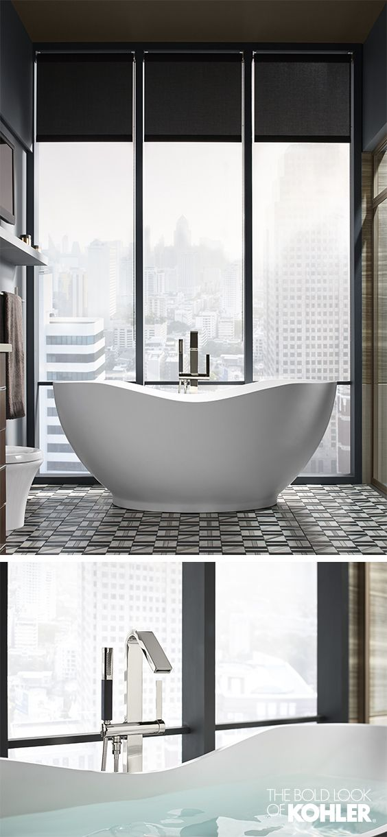 Bathtubs with city views have my heart