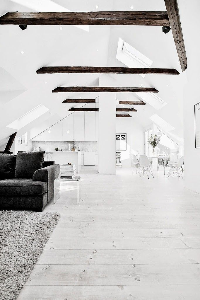The Design Chaser Pitched Roofing + Wooden Beams Scandinavian - reddy küchen wien