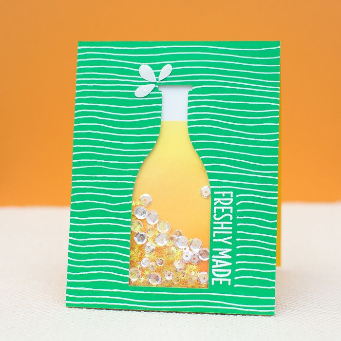 Virginia's View Challenge: Sparkling Lemonade Shaker Card #sparklinglemonade