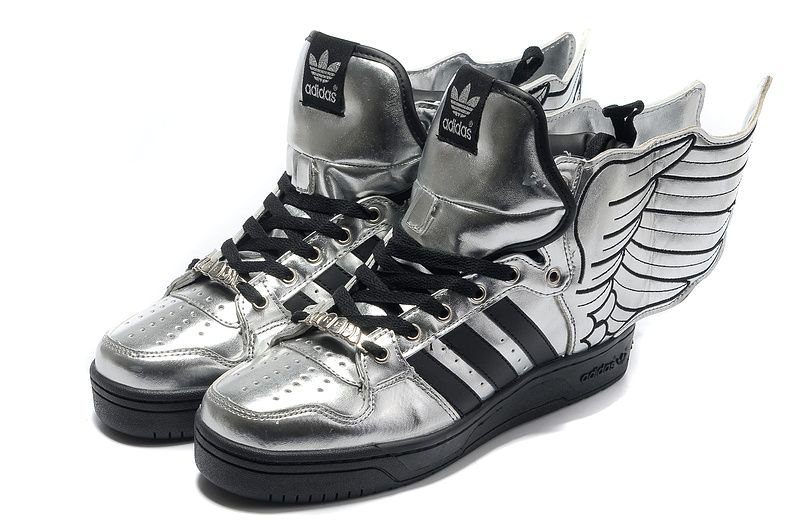 Buy Discount Adidas X Jeremy Scott Wings Shoes Silver Sports Shoes Store