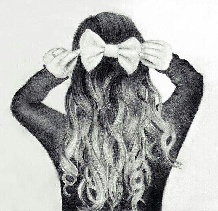 Cute Hair Bow Drawing Girl Hair Drawing How To Draw Hair Girly Drawings