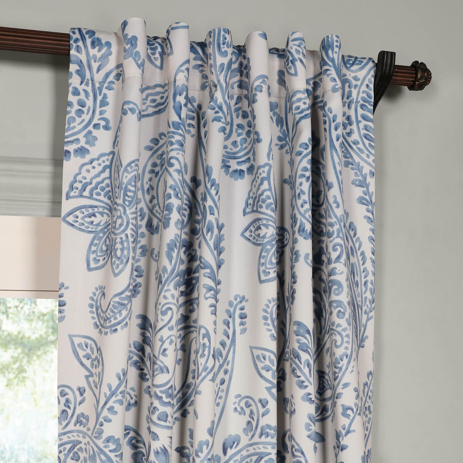 China Blue Curtains Tea Time China Blue Room Darkening Curtain Decorating Ideas