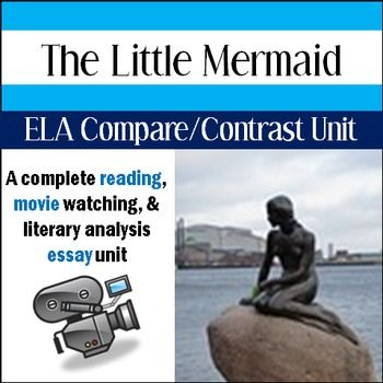 the little mermaid compare contrast movie reading unit middle  the little mermaid compare contrast movie reading unit middle school
