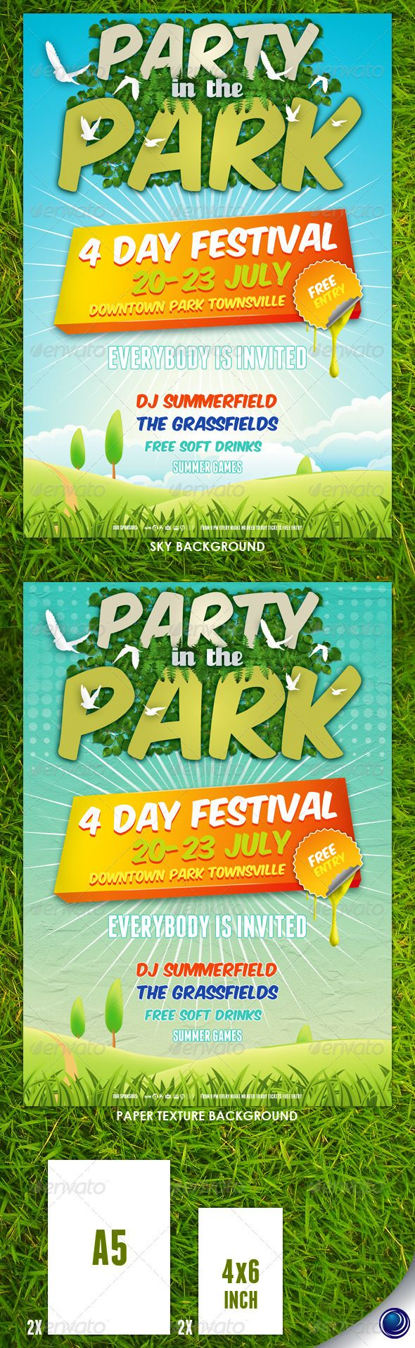 Summer Nature Party Flyer Template – Summer Flyer Template