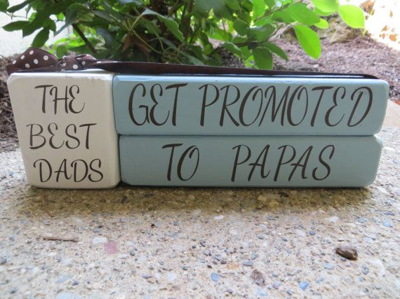 Fathers Day Blocks Gift Grandma Papa Nana by DaisyBlossomCreation, $13.99